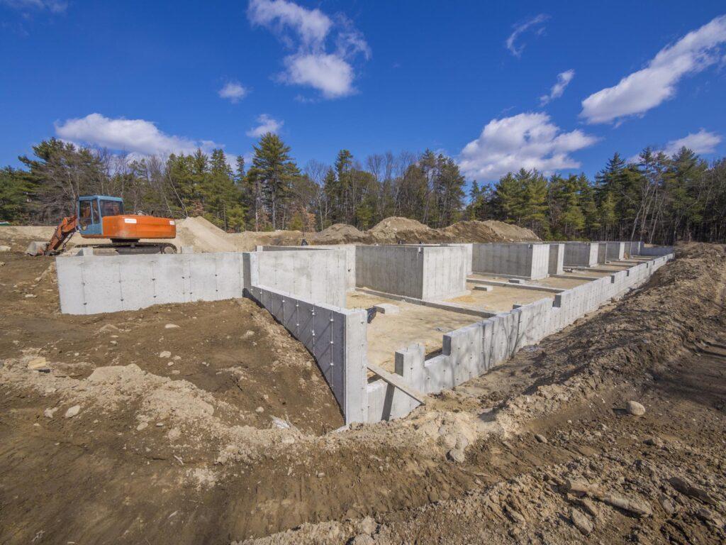 under construction concrete slabs