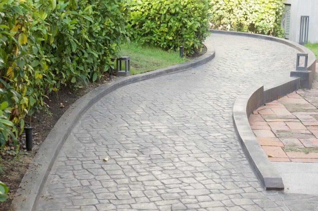 a garden concrete walkway